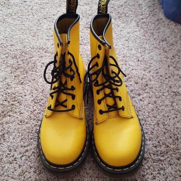 e8dd7cbd4 Dr. Martens Shoes | Yellow Doc Martens Size 7 | Poshmark